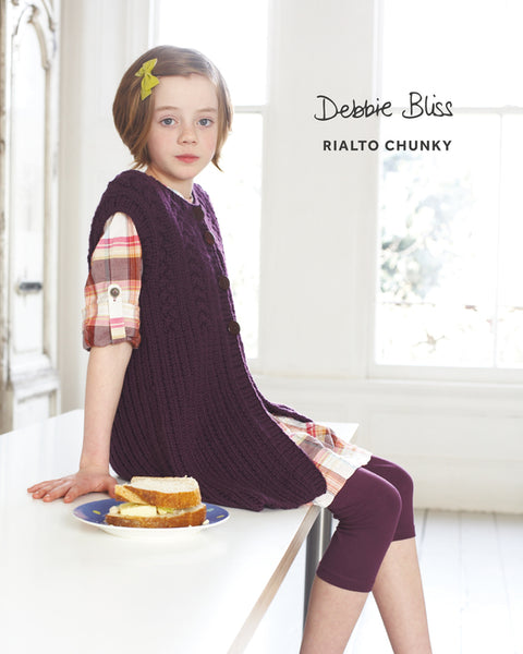 Debbie Bliss Rialto Chunky Cabled Gilet DB121 PDF Dwonload