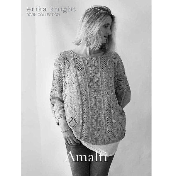 Amalfi oversized summer sweater knitted in Erika Knight Studio Linen PDF Download - The Knitter's Yarn