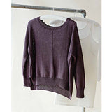 This sweatshirt is an easy knitting project designed by Erika Knight in her Studio Linen yarn.