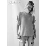 This easy knitting project is a short sleeved sweater knitted in stocking stitch. Designed by Erika Knight and knitted in her Studio Linen yarn.
