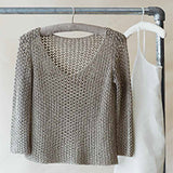 A simple sweater knitting pattern designed by Erika Knight and knitted in her Studio Linen. Available from The Knitter's Yarn.