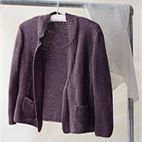 This cardigan, designed by Erika Knight, is knitted in her Studio Linen Yarn and is available from The Knitter's Yarn.