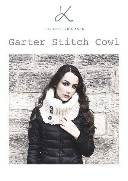 Garter Stitch Button Cowl