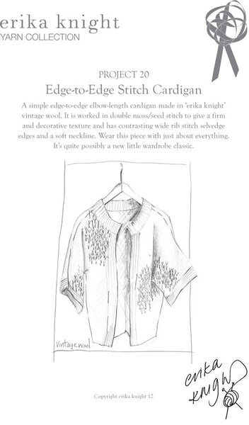 Erika Knight Edge-to-Edge Stitch Cardigan PDf Download - The Knitter's Yarn
