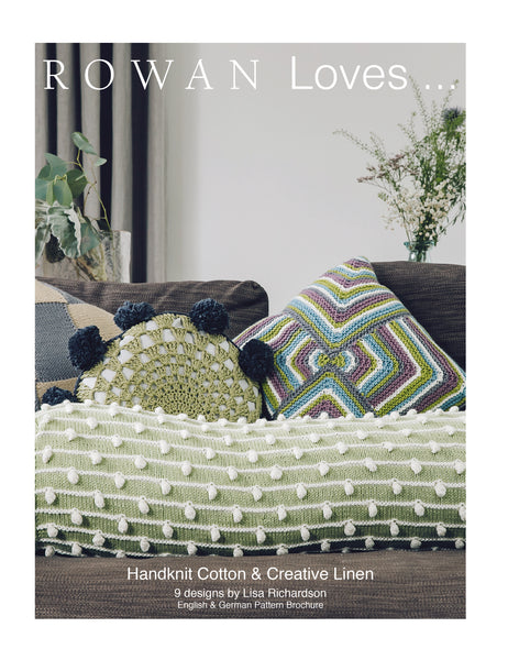 A knitting and crochet pattern book with beautiful designs for the home.