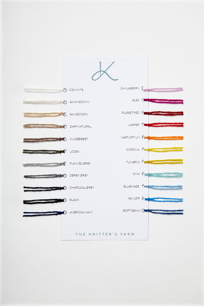 The Knitter's Yarn Swatch Card
