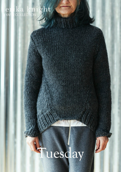 Tuesday is a knitting pattern designed by Erika Knight for her maxi wool.