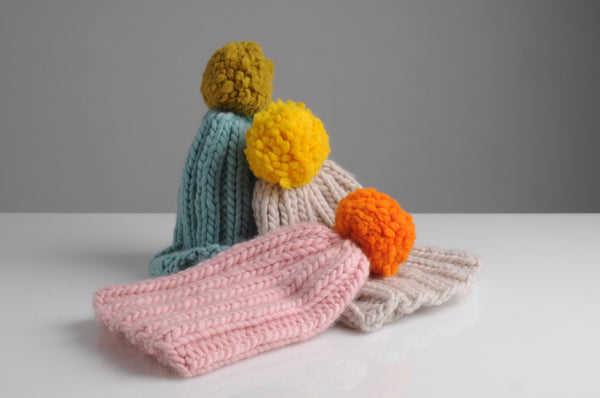 Mrs Moon Simple Bobble Hats - The Knitter's Yarn