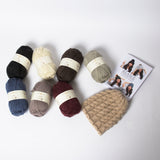 Kylie beanie knitting kit available from The Knitter's Yarn.