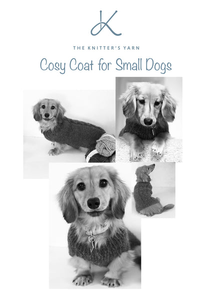Cosy Coat Knitting Pattern for Small Dogs