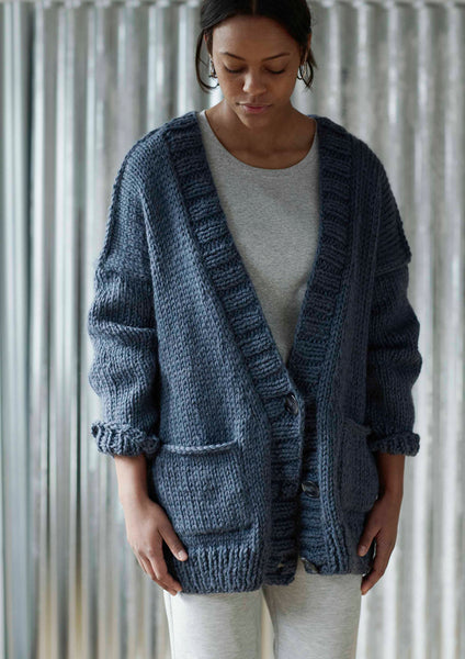 Five PM is a slouchy, easy knitting pattern from Erika Knight knitted in her Maxi wool. Available in a kit from The Knitter's Yarn.