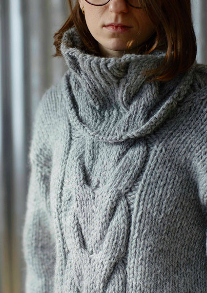Knitting pattern for oversized sweater using Erika Knight's maxi wool from The Knitter's Yarn.