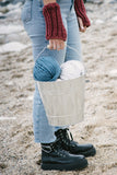 Razorbill Ribbed Fingerless Mitts - The Knitter's Yarn
