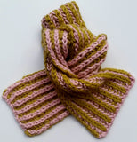 Mrs Moon Two Colour Brioche Scarf - The Knitter's Yarn