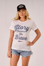 "White Uggly & Co ""Glory Favours the Brave"" T-Shirt"