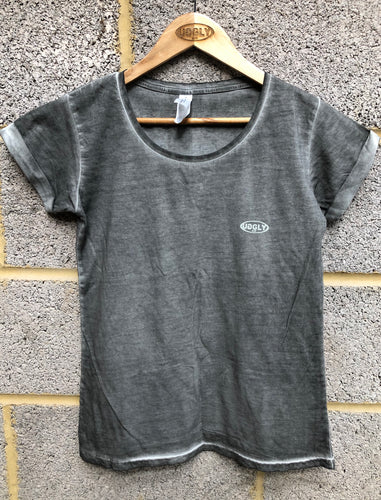 Womens's Grey Uggly&Co Oval T-Shirt
