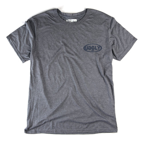 Grey Uggly&Co Classic Oval T-Shirt