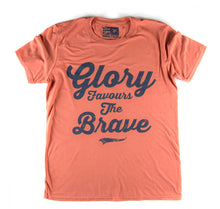 "Orange Uggly&Co ""Glory Favours the Brave"" T-Shirt"