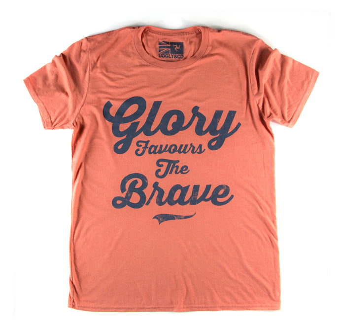 GLORY FAVOURS THE BRAVE TSHIRT - MENS - BRONZE
