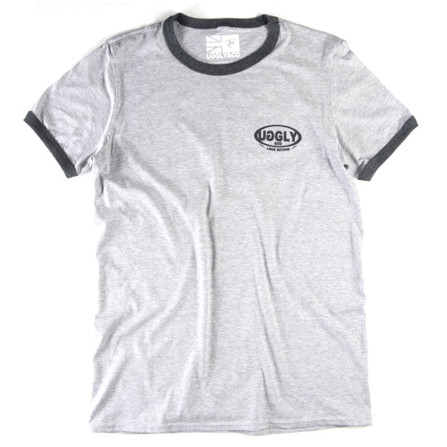 Ash grey Uggly&Co 'LOOK BEYOND' T-Shirt
