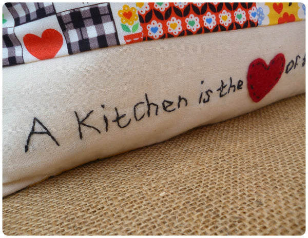 A Kitchen is the Heart of the Home Cushion