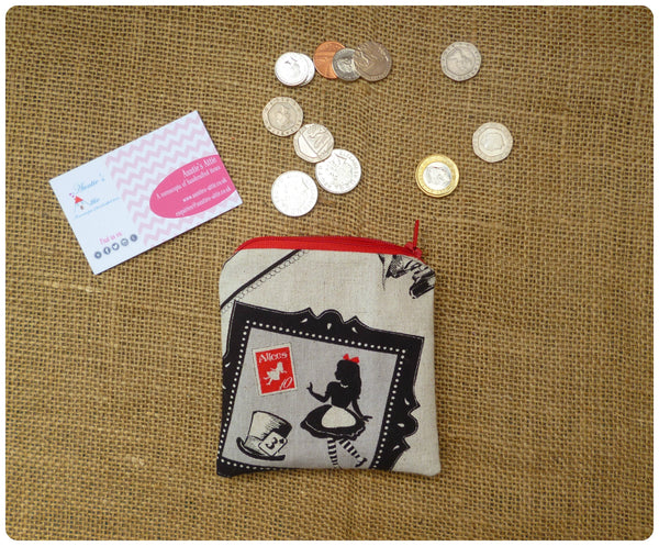Alice In Wonderland Coin Purse (Choice of Colours Available)