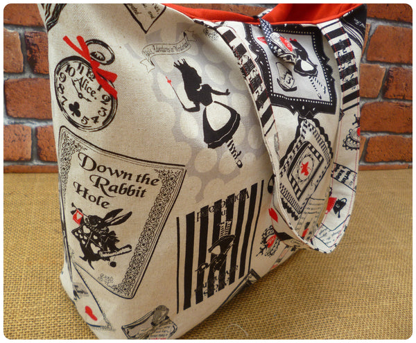 Alice In Wonderland Hand Bag (choice of fabrics available)