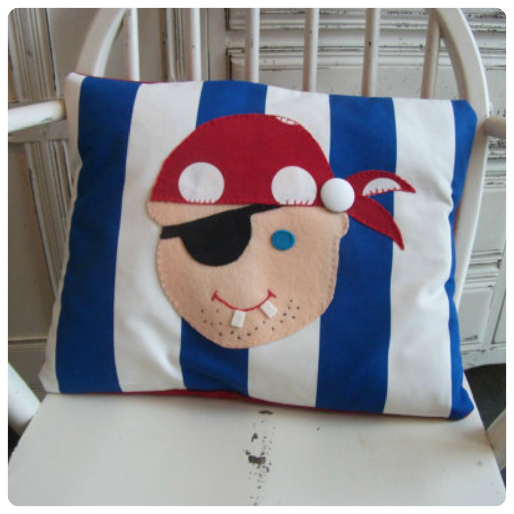 Blue Pirate Face Cushion