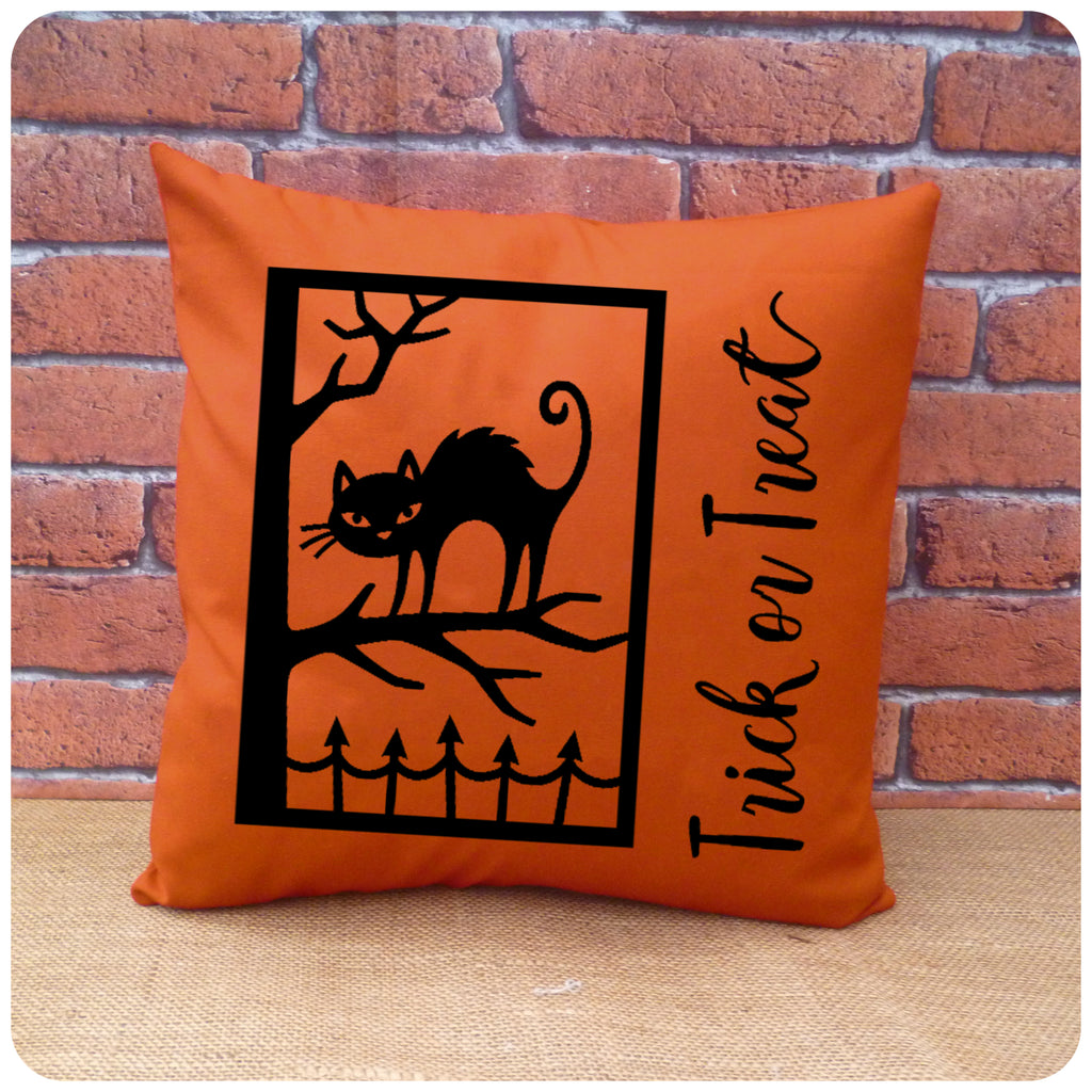 Trick or Treat Cat Cushion