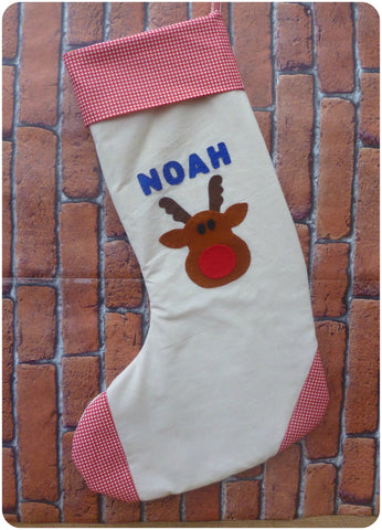 Large Personalised Christmas Stockings, Personalised Childrens Stockings