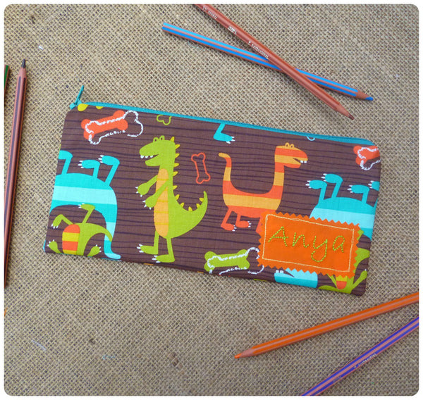 Dinosaur Pencil Case (Can be Personalised)