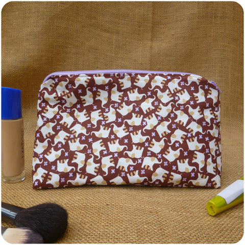 Elephant Make Up Bag, Front View