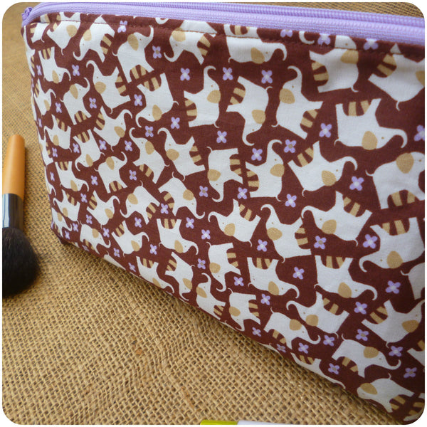Elephant Make Up Bag, Close Up View