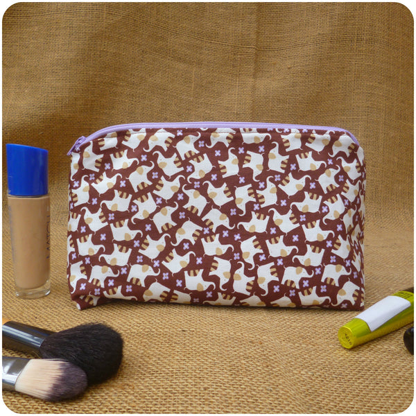 Elephant Make Up Bag, Back View