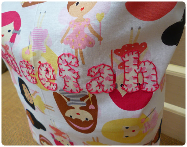 Fairies Drawstring Bag (Hearts)