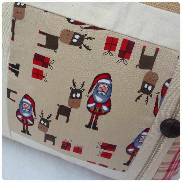 Father Christmas and Reindeer Cushion