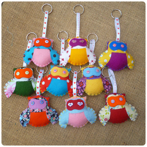 Fatty Owl Key Rings