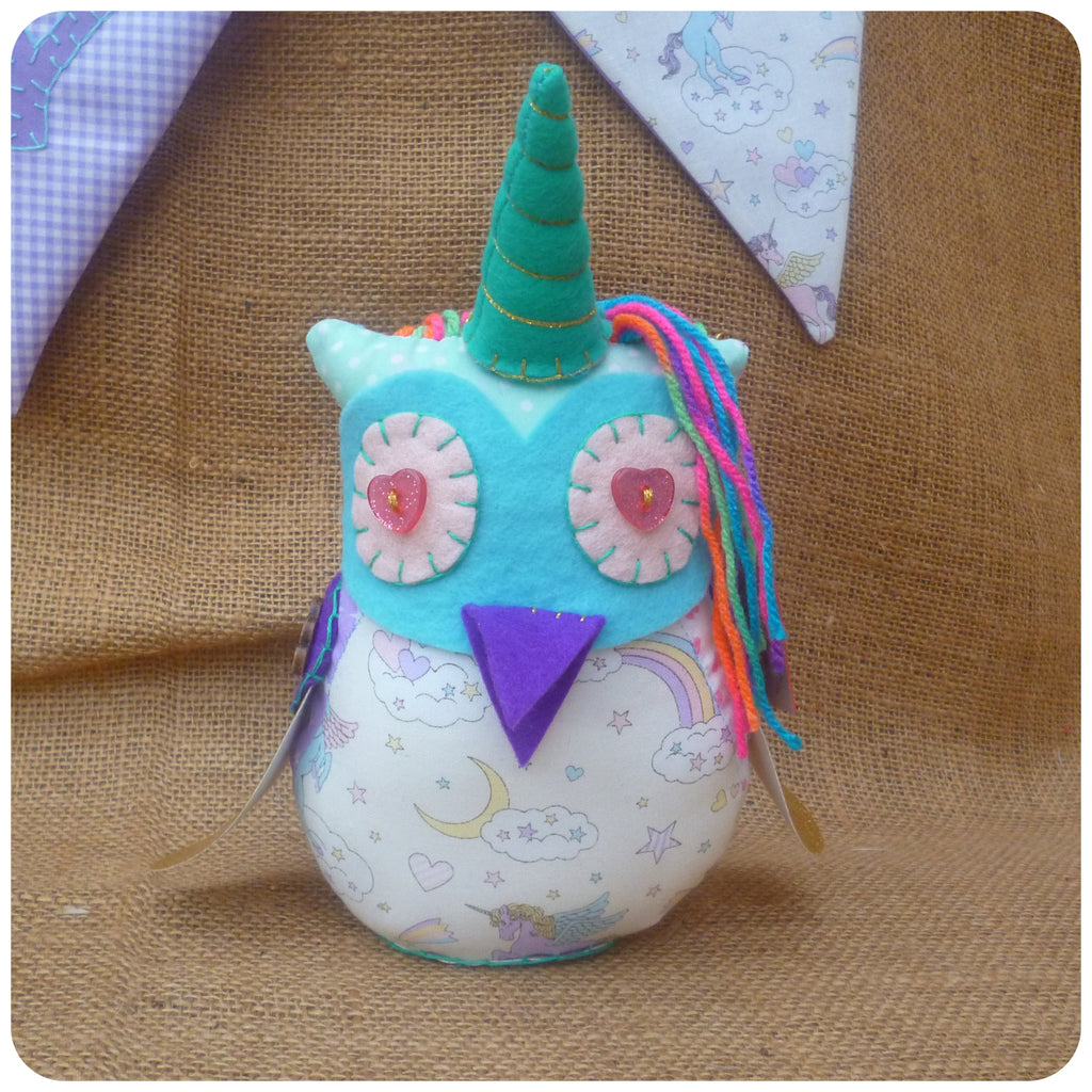 Bespoke Unicorn Fatty Owl