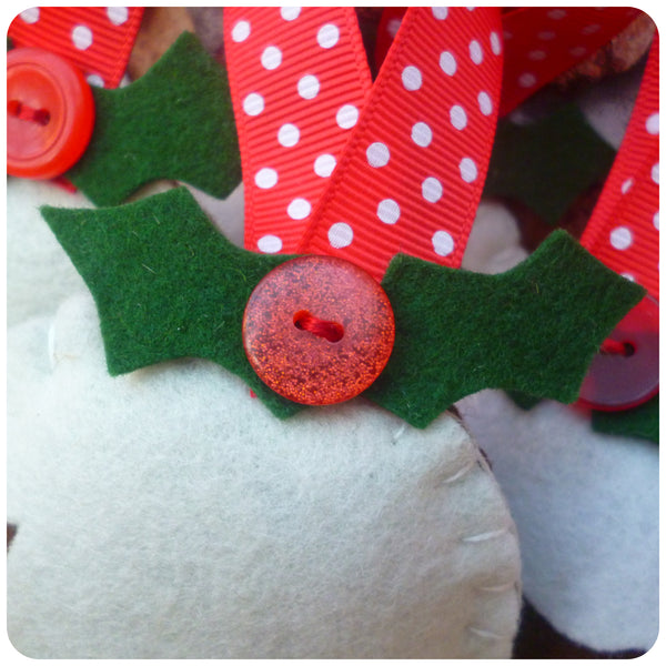 Felt Christmas Pudding Tree Decoration