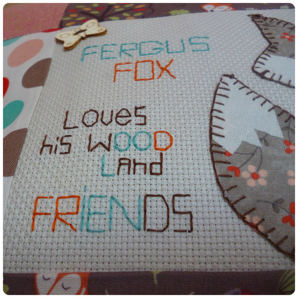 Fergus the Fox Woodland Cushion