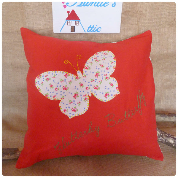 Flutterby Butterfly Cushion