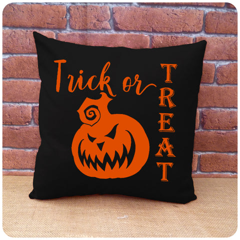 Scary Halloween Pumpkin Cushion, Spooky Halloween Decorations, Choice of Colours Available