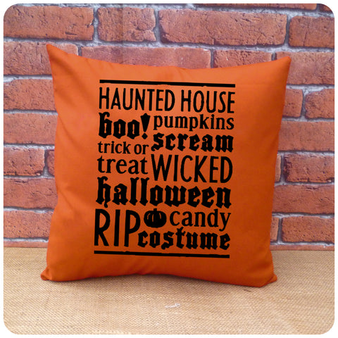 Halloween Word Art Cushion