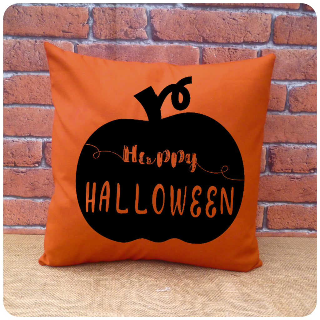 Happy Halloween Pumpkin Cushion