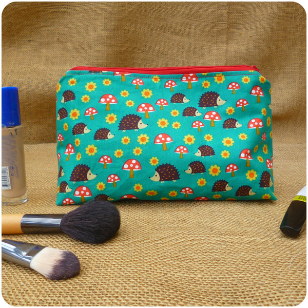 Hedgehog Toiletry Bag, Back View