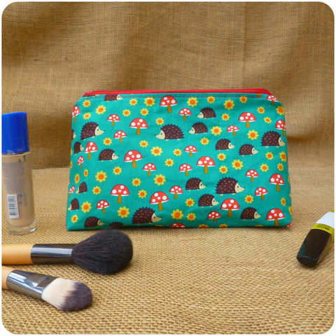 Hedgehog Make Up Bag, Front View