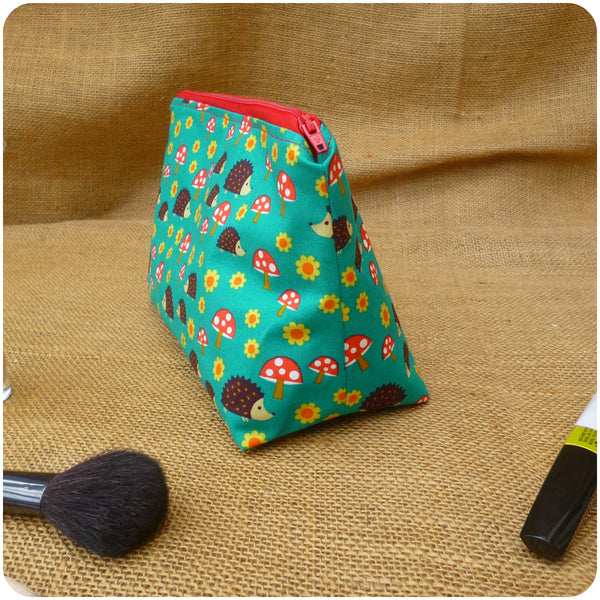 Hedgehog Toiletry Bag, Side View