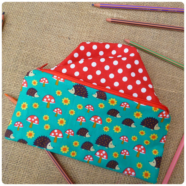 Hedgehog Pencil Case (Can be Personalised)