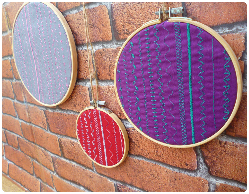 Stitch Sample Hoop Art