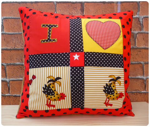 I Heart Chickens Cushion